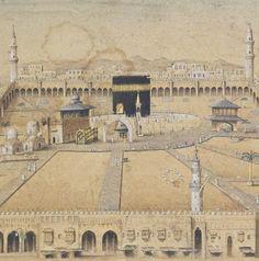 Old Kaaba,Al-Masjid al-Ḥarām, Mecca.  +