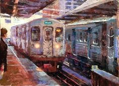 Never the Twain Shall Meet by Nancie King Mertz Pastel ~ 9.75 x 13.25  Great urban scenes. And much more.