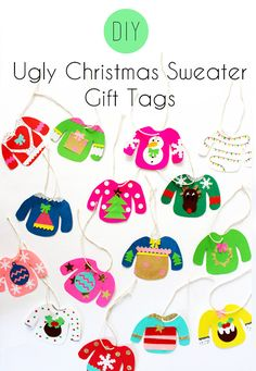DIY: Ugly Christmas Sweater Gift Tags