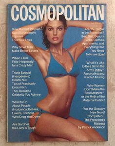 Cosmopolitan magazine, JULY 1976 Model: Barbara Minty Photographer: Scavullo
