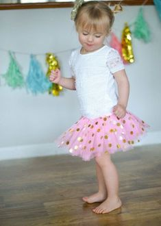 97525a04d The Hair Bow Company | Gold Polka Dot Baby Tutu Toddler Tutu, Gold Polka  Dots