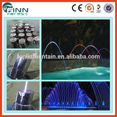 swimming pool decoration color water jumping jet fountain nozzle