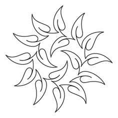 nice arrangement for leaves - - - Hawaiian Holiday Block 2 - Digital - Quilts Complete - Continuous Line Quilting Patterns Quilting Stencils, Quilting Templates, Longarm Quilting, Free Motion Quilting, Quilting Ideas, Embroidery Designs, Paper Embroidery, Crewel Embroidery, Machine Quilting Patterns