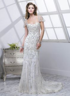Lola - by Maggie Sottero :: 1920's art deco great gatsby wedding dress