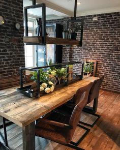 #industriële meubels Decor, Furniture, Table, Home, Bar, Home Decor