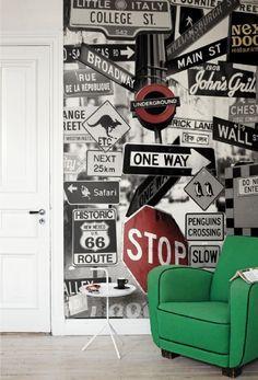 Potenciar una estancia empapelando una pared, con un papel importante #decoracionhabitacionjuveniles #habitacionadolescentesvarones