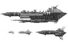 Battlefleet Gothic, Bttlefleet Gothic, Chaosfleet, Gothic, Iron Warriors, Planetkiller, Size, Warpship