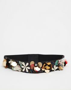 Image 1 ofASOS Floral Embellished Waist Belt