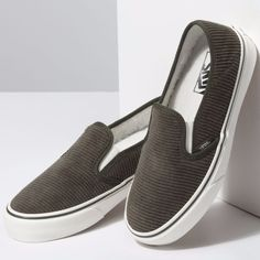 Vans Store, Corduroy, Classic Style, Xmas, Slip On, Heels, Sneakers, Women, Fashion