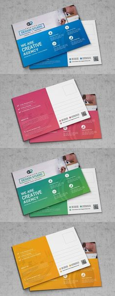 Mega Business Postcard. Creative Card Templates