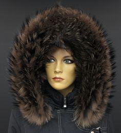 Super luxusní kožešinový lem na kapuci z mývalovce v barvě Smoke - podsada středně šedá, mírně do fialova, pesíky tmavé. #pravakozesina #lemnakapuci #kozesina #kozesiny #spongr #kuzedeluxe #deluxe #myvalovec #finnraccoon #realfur Fur Coat, Jackets, Fashion, Down Jackets, Moda, Fashion Styles, Fashion Illustrations, Fur Coats, Fur Collar Coat