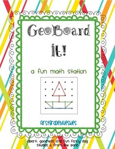 Geoboards are a great way to explore geometric shapes, properties of plane shapes, and open/closed identification.
