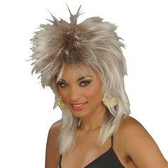 Adult Rocker Blonde Costume Wig, Yellow