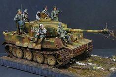 """""""Autumn 1943"""" - Pz.Kpfw VI on muddy Russian road."""