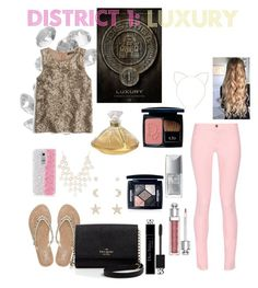 """""""Summer Style : District 1 : Luxury"""" by dawndreader ❤ liked on Polyvore featuring Blue La Rue, Maison Kitsuné, M&Co, J.Crew, Kate Spade, Christian Dior, Charlotte Russe, Lalique and Cara"""