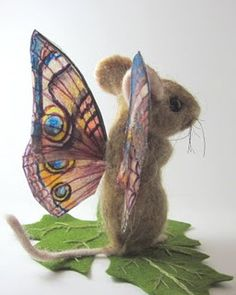 """Needle felted """"fluttermouse"""" by Robin Joy Andreae"""