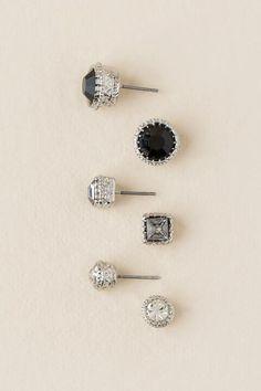 Ruby Vintage Stud Earring Set