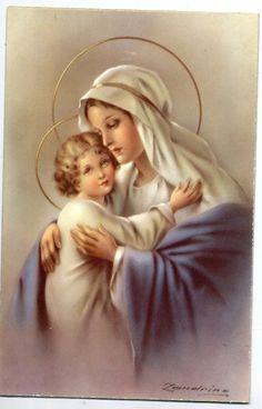 ZANDRINO Madonna con Bambin Gesù Virgin Mary PC Circa 1930 Italy - EUR 4,99. Track Page Views With Auctiva's FREE Counter 263523733881