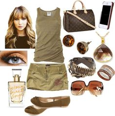 """""""khaki"""" by babybren-fany ❤ liked on Polyvore"""