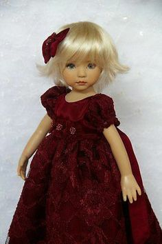 "OOAK Taffeta Lace for Effner 13"" Little Darling by Glorias Garden | eBay. Sold for $59.00 12/23/13."