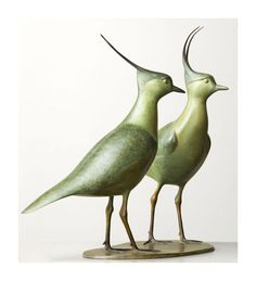 It is always a special occasion when a flock of Lapwings land in the fields surrounding the sculptor's studio. When they returned recently, it inspired this work. An edition of twelve.