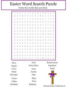 Church House Collection Blog: Christian Easter Word Search For Kids