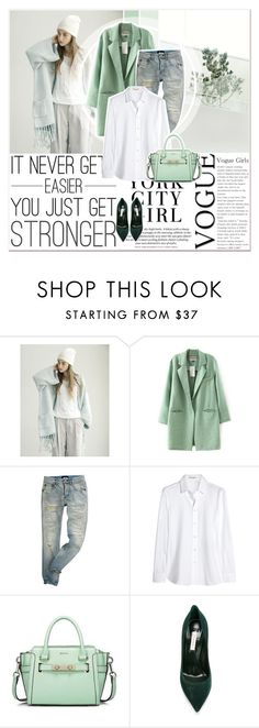 """""""Mentol Look"""" by lucky-1990 ❤ liked on Polyvore featuring Yves Saint Laurent and Casadei"""