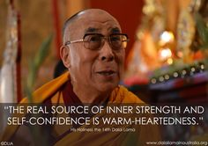 "Dalai Lama in Australia ""The real source of inner strength and self-confidence is warm-heartedness."" Spread by www.fairtrademarket.com supporting #fairtrade and #novica"