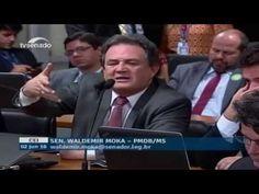 Senador Waldemir Moka se irrita com  Advogado de Dilma José Eduardo Cardozo