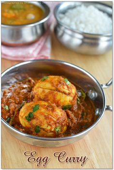 EggCurry2 by vsharmilee, via Flickr Egg Recipes Indian, Indian Dishes, Curry Recipes, Vegetarian Recipes, Cooking Recipes, Savoury Recipes, Healthy Recipes, Egg Masala, Tiffin Recipe