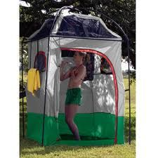 Camping shower tents make family camping easy