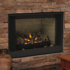 DIY ventless gas log fireplace my husband and I built for our ...