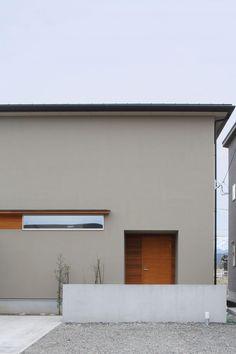 外観 Grey Exterior, Exterior House Colors, Exterior Design, Different Architectural Styles, Minimalist Architecture, Small Buildings, House Entrance, Japanese House, Facade House