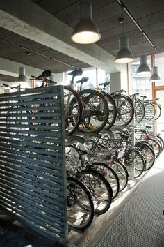 Photograph via Lundgaard & Tranberg Arkitekter Located on Orestad, a newer district in Copenhagen, Denmark, lies the award-winning Tietgen Student Hall (Tietgenkollegiet), a large circular residence with a massive interior courtyard. University Dorms, Best University, Bicycle Garage, Bicycle Park, Bicycle Store, Bicycle Tools, Co Housing, Student Dormitory, Student House