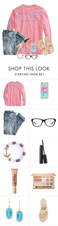 """""""Happiness Looks Gorgeous On You ;)"""" by bowbeauty01 ❤ liked on Polyvore featuring Lilly Pulitzer, J.Crew, Ralph Lauren, Kiel James Patrick, Bare Escentuals, Too Faced Cosmetics, tarte, Kendra Scott, Jack Rogers and bowbeautiful"""