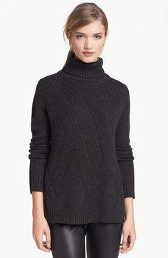 Vince 'Travelling' Ribbed Turtleneck Sweater