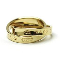 TIFFANY & Co. 18K Gold 1837 Interlocking Circles Ring Circles, 18k Gold, Tiffany, Wedding Rings, Engagement Rings, Silver, Jewelry, Jewellery Making, Jewerly