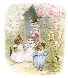 Illustrations from a Beatrix Potter book that I read as a child (logged away for future baby room art)