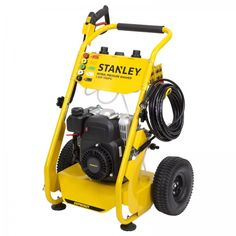 Stanley 1900PSI Petrol Pressure Washer, 2 Year Warranty. The Stanley 2.6HP 1900PSI Petrol Pressure Washer is ideal in cleaning driveways, decks, brickworks, patios, roofs as well as cars and the filthiest of four-wheel drives. It includes a convenient 10m long heavy-duty hose and 5 interchangeable nozzles and twin 800ml detergent bottles which can use the same or different detergents in each. This pressure washer is the perfect tool for any tradie or handyman wanting to make cleaning… Detergent Bottles, Pressure Washers, Stained Concrete, Driveways, Four Wheel Drive, Water Flow, Brickwork, Mold And Mildew, Decks
