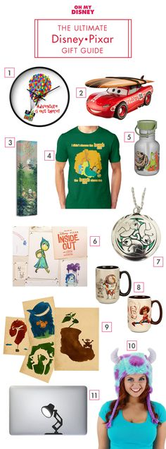 With Toy Story's 20th anniversary and the release of both Inside Out and The Good Dinosaur, we've been blessed with a ton of great Disney•Pixar this year. To keep the fun going, and to celebrate #DisneyGift month, we've compiled an exciting gift guide for the Pixar-lovers in your life. Enjoy!