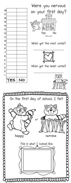Kissing Hand First Day Back to School Pack - First Grade Blue Skies