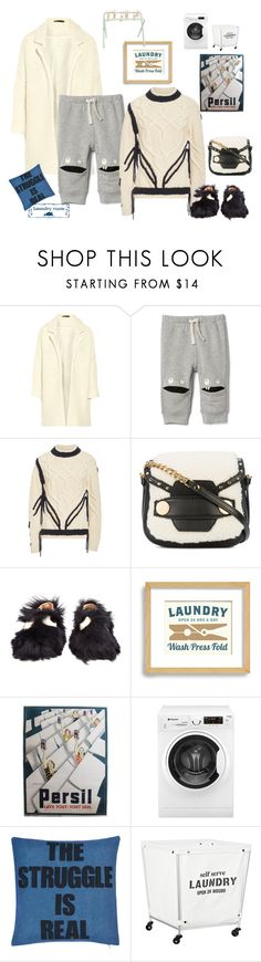 """""""Laundry day- new styles are born- thank god it's Halloween 🙊"""" by juliabachmann ❤ liked on Polyvore featuring Maje, ORLEY, STELLA McCARTNEY, Anya Hindmarch, Hotpoint and Alexandra Ferguson"""