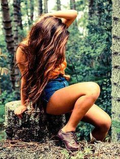 Auburn Brown Hair Color With Highlights