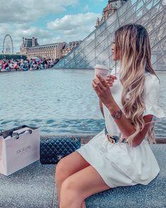 Paris - white dress - Gucci belt - Louvres