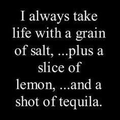 Patrón tequila of course!
