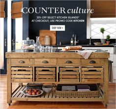 COUNTER CULTURE Sweet idea with all the drawers and shelf space.