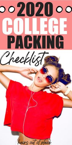 A college packing list for freshman dorm rooms! Learn what college essentials you need to take to college.