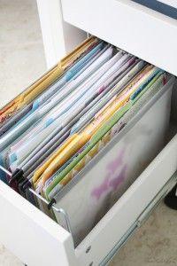 Home office file folder organization in Ikea micke desk Ikea Micke, Micke Desk, File Folder Organization, Home Office Organization, Organization Ideas, Office Nook, Office Decor, Office Ideas, Home Office Design