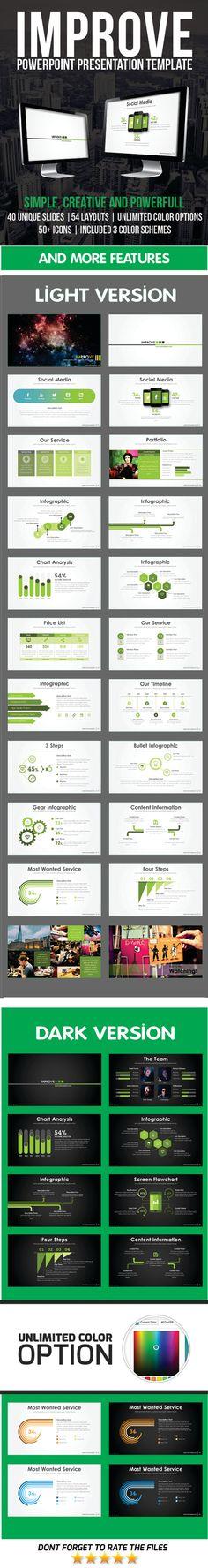 Improve PowerPoint Template Presentation #slides Download: http://graphicriver.net/item/improve-powerpoint-template/11628383?ref=ksioks