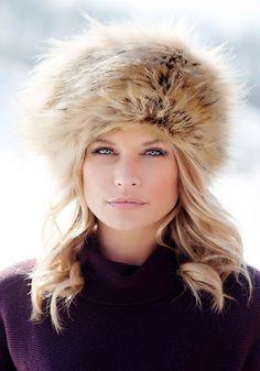 8a3bdd3cf61 Tipped Fox Russian Faux Fur Hat